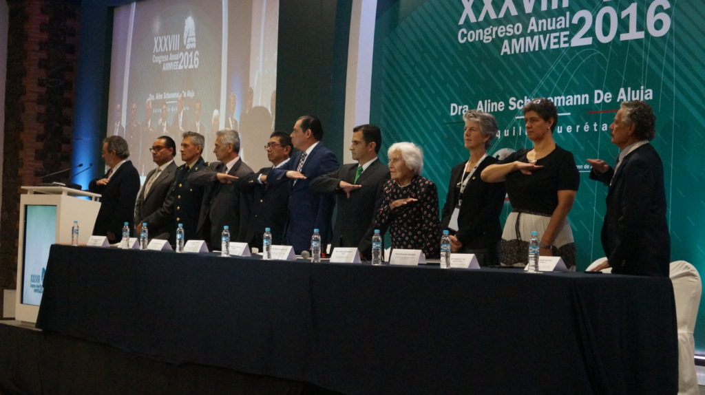 AMMVEE Staff and Mexican authorities at the Congress opening